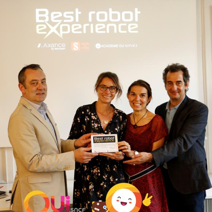 Best Robot Experience 2019 : OUIbot de OUI.sncf, lauréat du prix